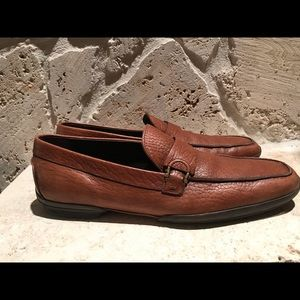 Stunning Brown Ferragamo pig skin men shoes